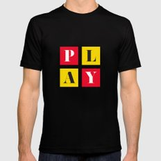 Play Black Mens Fitted Tee SMALL