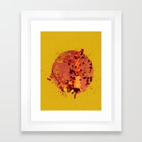 Polygons of a Photograph Framed Art Print