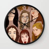 Silly Girls Wall Clock