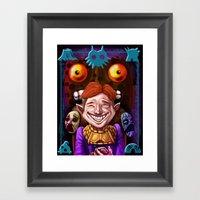 The Happy Mask Salesman Framed Art Print