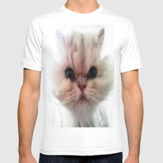 MR. CHEEKS White Mens Fitted Tee SMALL