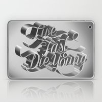 Live Fast Die Young - Bl… Laptop & iPad Skin