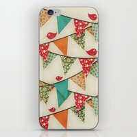 Home Birds 'N' Bunting. iPhone & iPod Skin