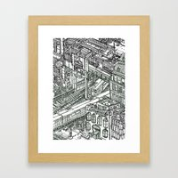 The Town of Train 1 Framed Art Print