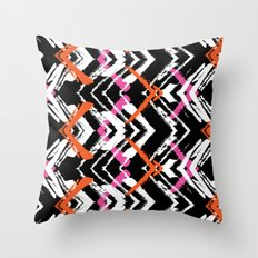 Painted geometry Throw Pillow