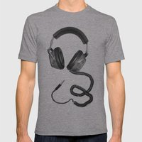 Headphone Culture Mens Fitted Tee Athletic Grey SMALL