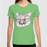 Mr Fox Womens Fitted Tee Grass SMALL