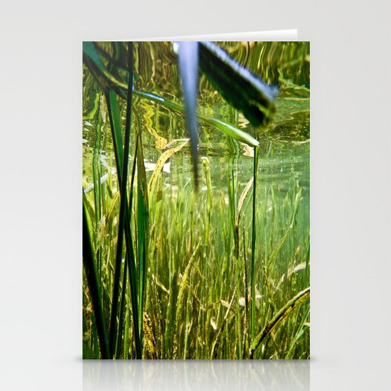 Submerged Grass Stationery Card