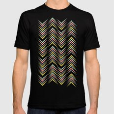 Wheat Chevron Mens Fitted Tee Black SMALL