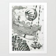 East Of Blue Lake Art Print
