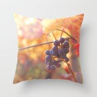 Fall Grapes Throw Pillow