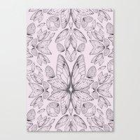 Rose Quartz Insect Wings Canvas Print