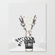 Christmas Bright Reindee… Canvas Print