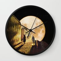 Walking At The Moonlight Wall Clock