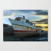 Old Fishing Boat At Low … Canvas Print