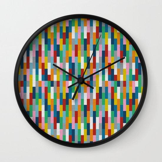 Bricks Rotate #2 Wall Clock