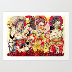 3 Geisha's Art Print