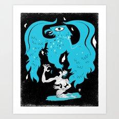 Rebirth (Blue) Art Print