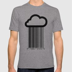 Barcode Cloud illustration  Mens Fitted Tee Tri-Grey SMALL
