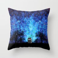 Lonely Tardis Doctor Who… Throw Pillow