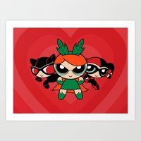 Supervillain Girls Art Print