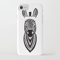 zebra iPhone & iPod Cases featuring Zebra by Art & Be