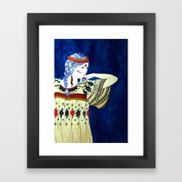 Indian Girl Framed Art Print