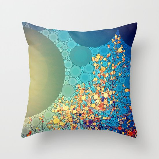 Sky and Leaves Throw Pillow