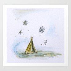 Tent Art Print