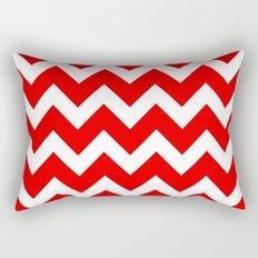 Chevron Red White Rectangular Pillow