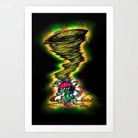 Tornado Girl Art Print