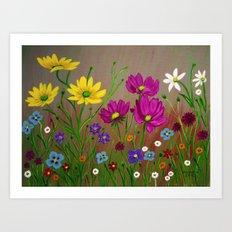Spring Wild flowers  Art Print