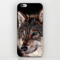 Wolf Painting - Night Watch iPhone & iPod Skin