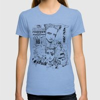 Fight Club Womens Fitted Tee Athletic Blue SMALL
