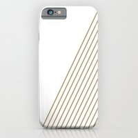 Tan & White Stripes  iPhone 6 Slim Case