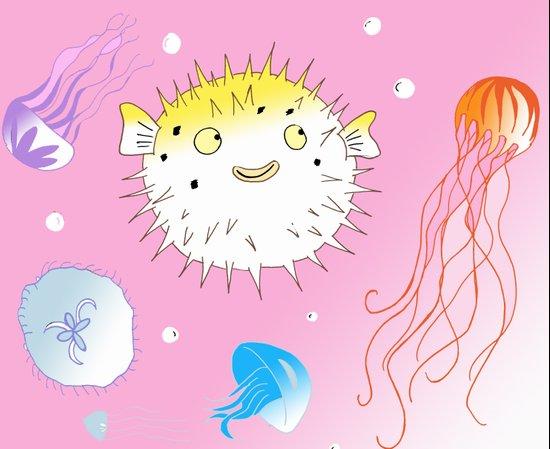 Little Fugu Canvas Print