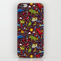 Dinosaur Repeat iPhone & iPod Skin