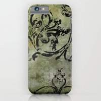 iPhone & iPod Case featuring Green Patterns by Julie Le Sueur