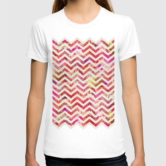 FLORAL CHEVRON T-shirt