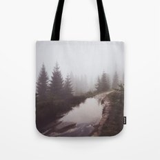Misty trail Tote Bag
