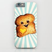 iPhone Cases featuring Toast by Kelly Gilleran
