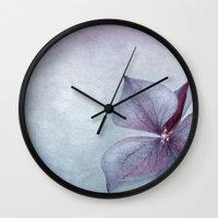 BLUE HYDRANGEA PETAL Wall Clock