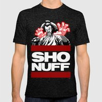 Sho Nuff  Mens Fitted Tee Tri-Black SMALL