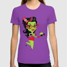 Bettie Bakes a Doomcake Womens Fitted Tee Ultraviolet SMALL