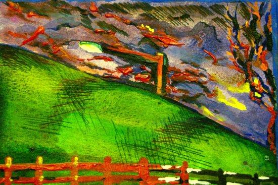 nice and windy night  Art Print