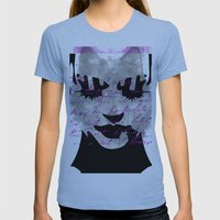 Woman Womens Fitted Tee Athletic Blue SMALL