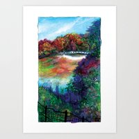 Bow Bridge Of Central Pa… Art Print