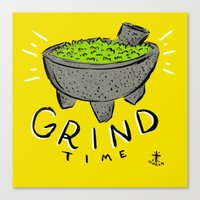 Grind Time Canvas Print