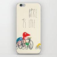 Bike Is Life iPhone & iPod Skin