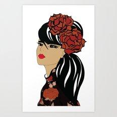 Flamenco Dancer | Spanish Girl | Fashion Illustration Art Print